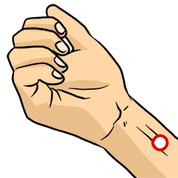 Acupressure Point - Pericardium 6